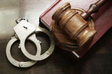 Gavel and handcuffs - bench warrant NC
